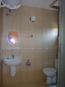 łazienka w domkach 1-6 i 15-20
