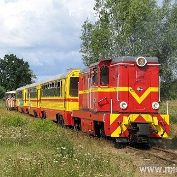 Żuławska Kolej Dojazdowa - przystanek JANTAR MŁYN