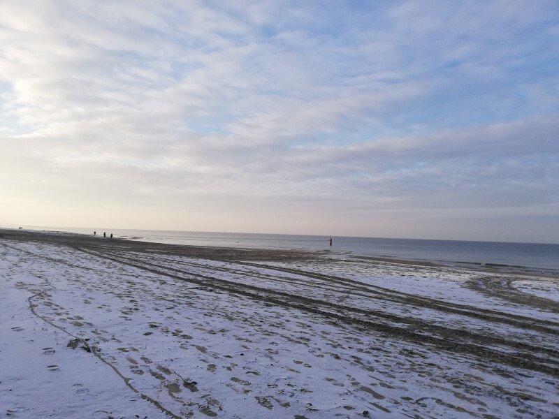 Mierzeja i zimową porą słoneczna