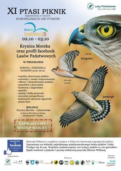 XI Ptasi Piknik - Europejskie Dni Ptaków na Mierzei Wiślanej 2021