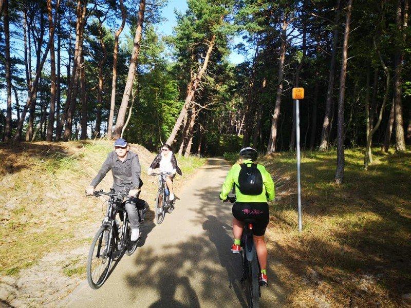 Szlak rowerowy R10 na Mierzei Wiślanej